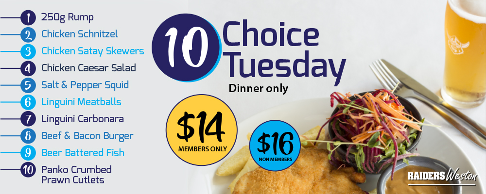 10 Choice Tuesday