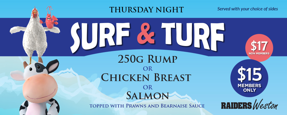 Thursday Surf & Turf